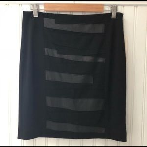 Anthro/Cluny Faux Leather Striped Skirt